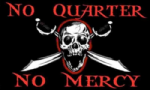 Pirate No Quarter No Mercy Large Flag - 5' x 3'.